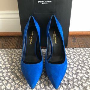 Authentic Saint Laurent Suede Heels Size 36